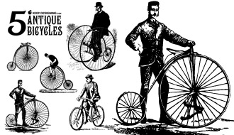 Vector Antique Bicycles